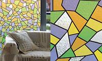 Самоклейка, мозаика, разноцветная,  витражная для стекол, PATIFIX, 90 cm