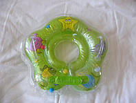Круг на шею для купания младенцев. Зеленый