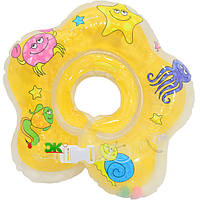 Круг на шею для купания младенцев. Желтый