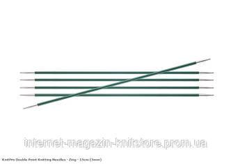 Спицы носочные Zing KnitPro 15 см | 3 мм