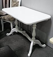 Стол раскладной Дуэт белый 140 обеденный деревянный