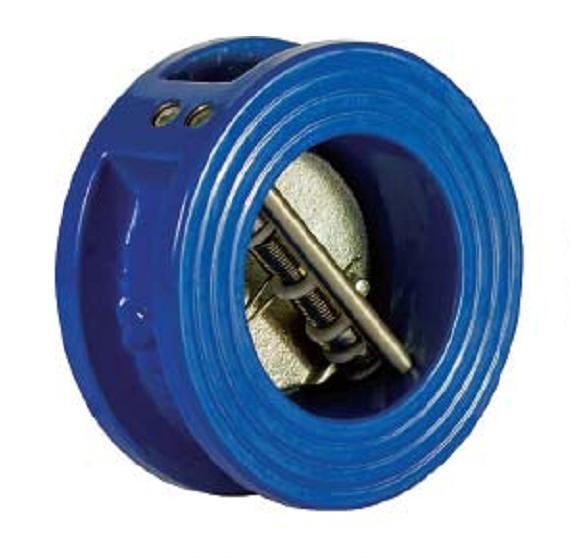 Клапан обратный межфланцевый Ду 80 двухлепестковый подпружиненный