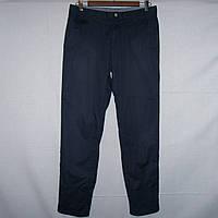 Темно-синие коттоновые мужские летние брюки р.46-48