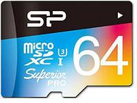 Карта пам'яті Silicon Power Micro SDXC 64 ГБ (SP064GBSTXDU3V20SP) + SD адаптер