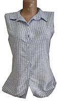 Рубашка женская надпись на спине полоска цветы