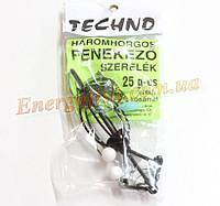Снасть Technoplankton Карп 3 крючка с кормушкой