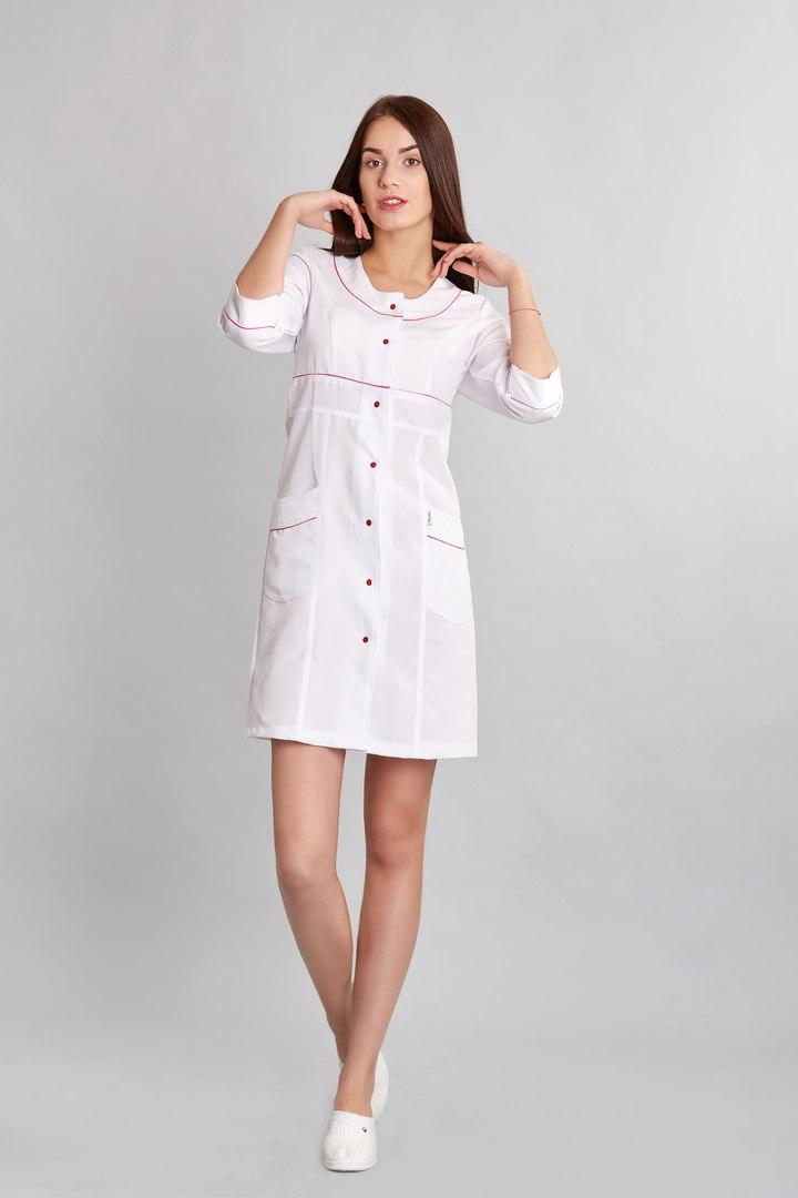 Медицинский женский халат на кнопках SM 1243 Liza 40-54 р