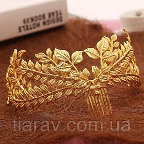 Корона ЗЛАТА гребень диадема Тиара Виктория модное украшение для волос