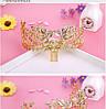 Корона ЗЛАТА гребінь діадема Тіара Вікторія модна прикраса для волосся, фото 6