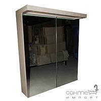 Уценённая сантехника Мебель и зеркала для ванной комнаты Зеркальный шкафчик для ванной комнаты с подсветкой EAGO PC 122 FA-2 цвет белёный дуб (уценка)