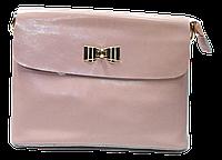 Классическая женская сумочка из натуральной кожи розового цвета через плечо NNE-042355