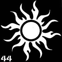 Трафарет для биотату № 44