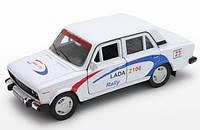 Игрушка машина LADA 2106 Rally в кор. 14х11,5х6 см. 42381RY Welly