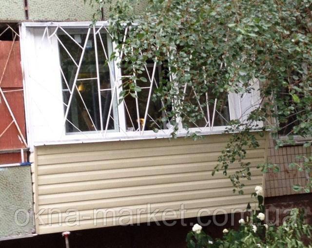 Остекление балкона с выносом, Киев проспект Рокоссовского