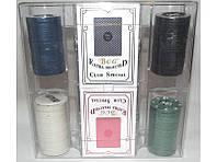 Набор для игры в покер (100 фишек + 2 колоды карт) I5-32, покерный набор, набор фишек для игры в покер // I5-32