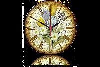 Часы-картина 33 см. Код: Цветы