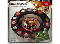 Рулетка со стопками в метал. коробке i3-91, настольная игра рулетка со стопками, игра пьяная рулетка // I3-91