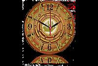 Часы-картина 33 см. Код: Штурвал