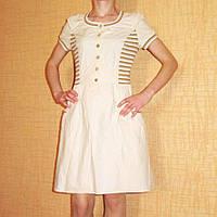 Подростковое хлопковое летнее платье, р. 42-44