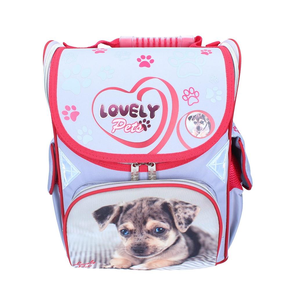 c502a44fa255 Рюкзак школьный каркасный (ранец) для девочки Class Lovely Pets 9705 Чехия