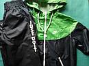 Детский Спортивный костюм унисекс плащевка на сетке Размер 38 Зеленый, фото 4