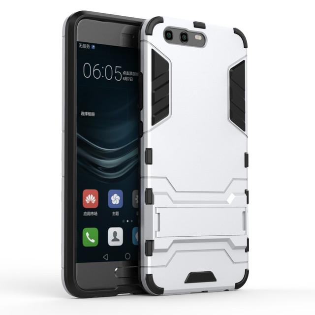 чехол накладка на Huawei P10 противоударный серебристый