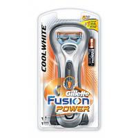 Бритвенный станок Gillette Fusion Power на подставке с картриджем и батарейкой