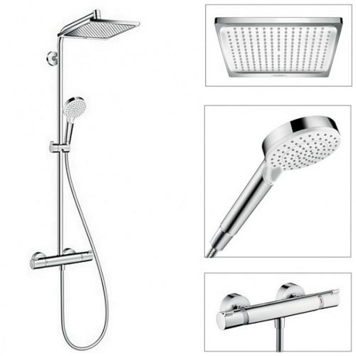 hansgrohe crometta 240 1jet showerpipe clever plitka com ua. Black Bedroom Furniture Sets. Home Design Ideas