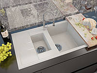 Кухонная мойка Moko MILANO цвет белый (искуственный мрамор)