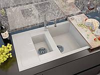 Кухонная мойка MILANO цвет белый (искуственный мрамор)