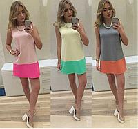 Женское платье двухцветное ВИВА