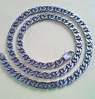 Цепочка 8мм*60см из стали 316L с изображением Рыбки - первый символ Христиан. 100% аналог серебра.