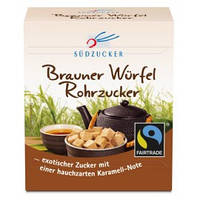 Сахар коричневый тростниковый прессованный в кубиках SUDZUCKER 500g