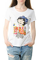 Белая женская футболка Moschino