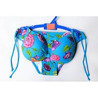 Очень красивый голубой купальник с цветами