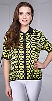 Блузка DiLiaFashion-0066 белорусский трикотаж, желтый, 44