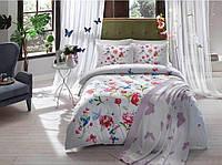TAC евро постель Goldy fusya + покрывало вязанное