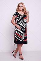 Яркое платье Лора р. 54-60 черный