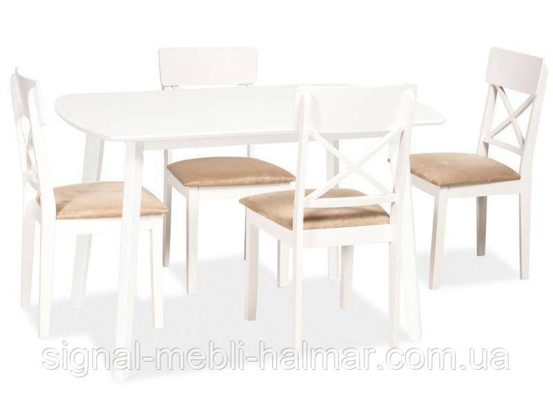 Luton белый деревянный кухонный стол signal