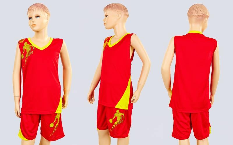 Форма баскетбольна підліткова Pace LD-8081T-3 (PL, p - p S, ML115120, зростання 125-165, червоний жовтий)