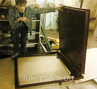 Напольный люк невидимка под плитку 1100х1200 мм Розовый