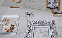 Обои бумажные, картины, рамки, девушка, светлый, Белина 1251, 0,53*10м