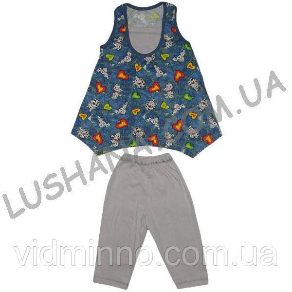 Летний костюм Дача на рост 110-122 см - Кулир