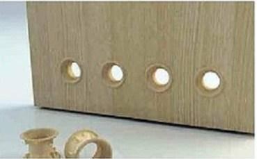 Розетка вентиляційна для закриття вентиляційних отворів у двері, фото 2