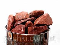 Камни для бани - малиновый кварцит обвалованный, 10 кг