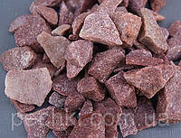 Камни для бани - малиновый кварцит колотый, 10 кг