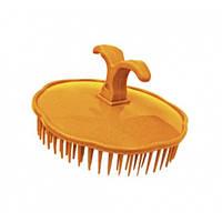 Массажная щетка для шампунирования TICO Professional оранжевая (600204), фото 1