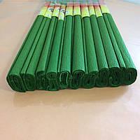 Гофрированная (креп) бумага для творчества, зеленая
