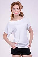 """Модная женская футболка """"Хулиганка"""",  однотон белый"""