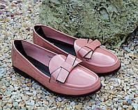 Стильные женские туфельки с бантом